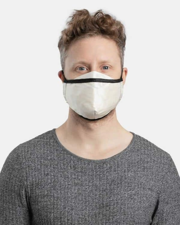 MaskPac luxurious silk face masks white front view male