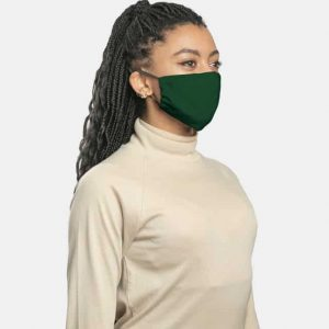 MaskPac fitted facemasks forest green