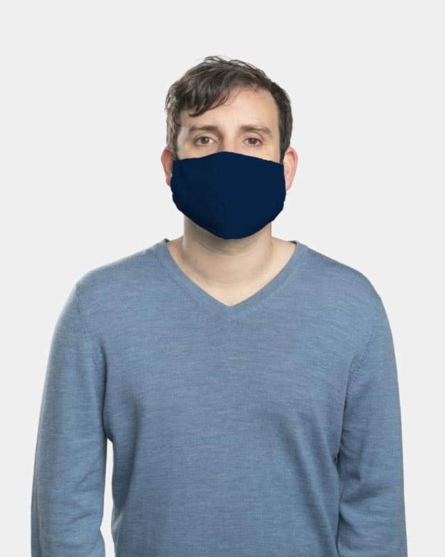 MaskPac fitted facemasks navy blue male