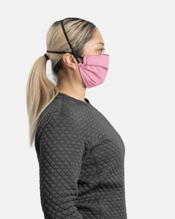 MaskPac pleated facemasks pink side view females