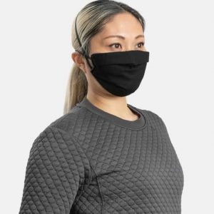 MaskPac pleated facemasks black side view females