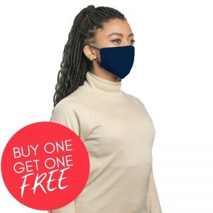 MaskPac fitted facemasks navy blue