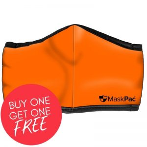Cotton face mask fluro orange, high visibility