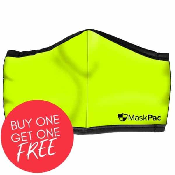 Cotton face mask fluro yellow, high visibility