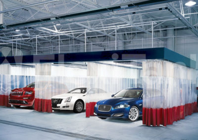 Warehouse curtains with cars