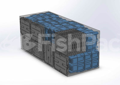 FishPac StackPac container packing schematic 2