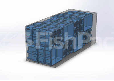 FishPac StackPac container packing schematic 1