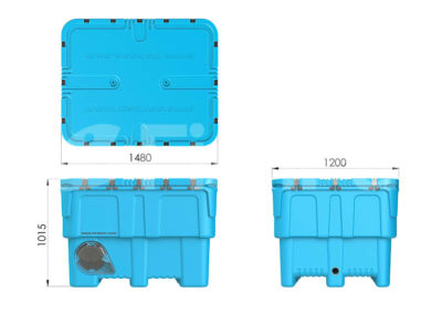 The FishPac StackPac Transport Bin | External dimensions