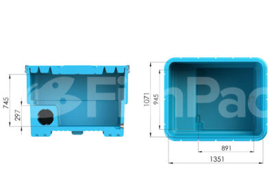 The FishPac StackPac Transport Bin | Internal dimensions