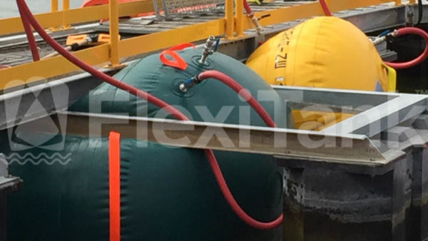 Flexitank 7 tonne bags under load