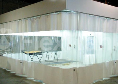 Warehouse curtain showroom