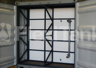 Container liner system with recessed bulkhead