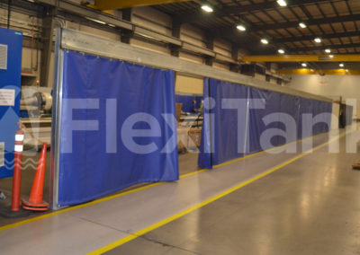 Warehouse curtains for floor privacy
