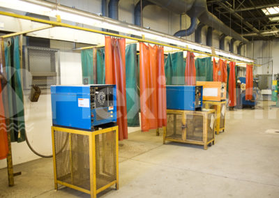 Warehouse curtains for welding