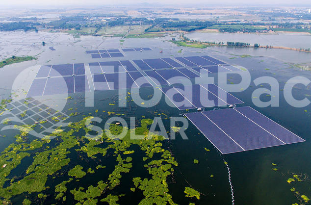 FloatPac floating solar farm