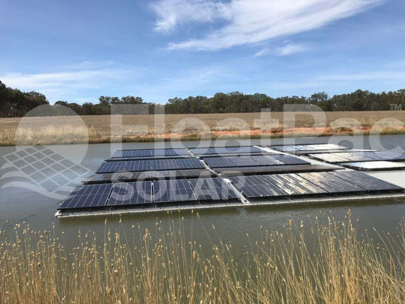 Floating solar by FloatPac Solar with Jinko solar panels