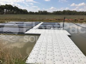 Floating solar by FloatPac Solar installed walkway