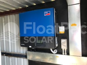 Floating solar by FloatPac Solar with SMA inverter