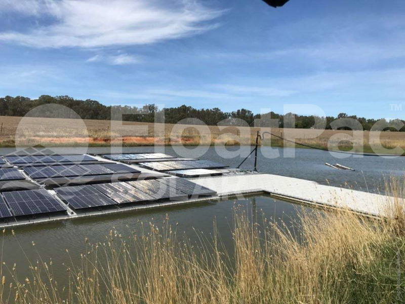 Floating solar by FloatPac Solar installed in Brimin, Victoria