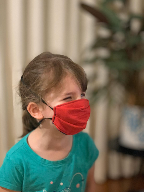 FloatPac cotton face masks for toddlers