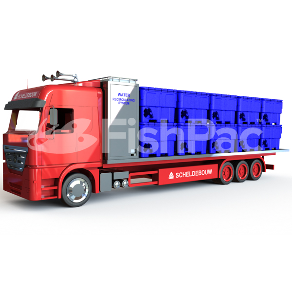 FishPac road freight suitable for a variety of live fish