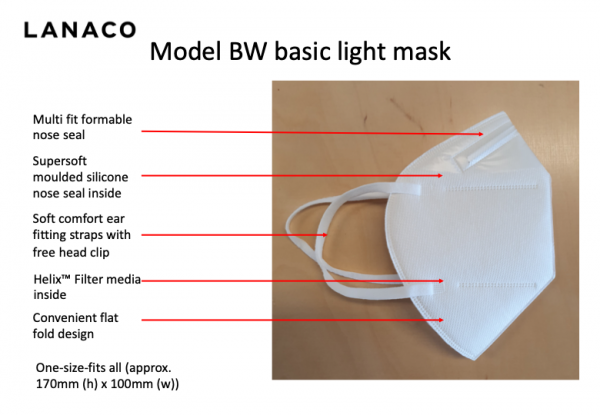 Waire disposable masks are available from FloatPac
