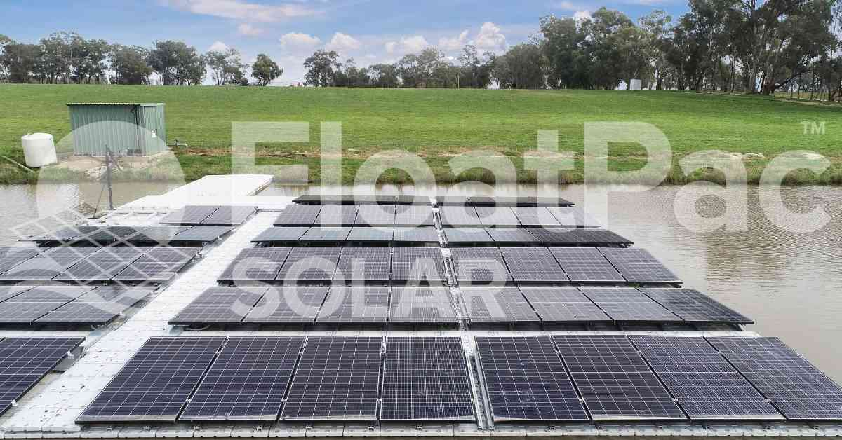 Floating solar | Floatovoltaics | FloatPac | 100% Australian Made